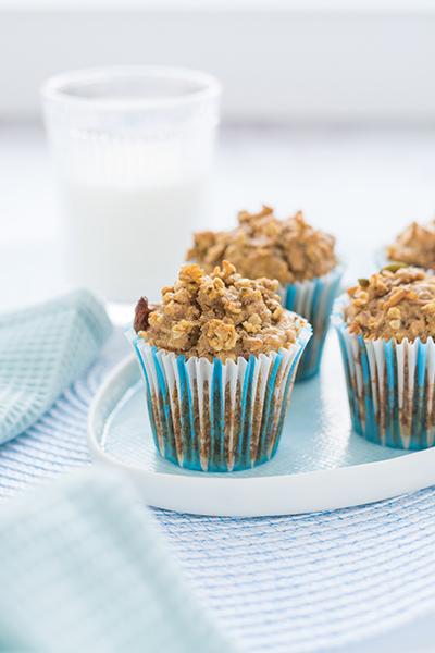 Cukormentes almás-zabos muffin